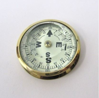 Paper Weight Compass Round Glass