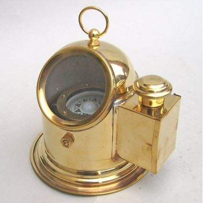 Brass Helmet Gimbal Compass No oil lamp