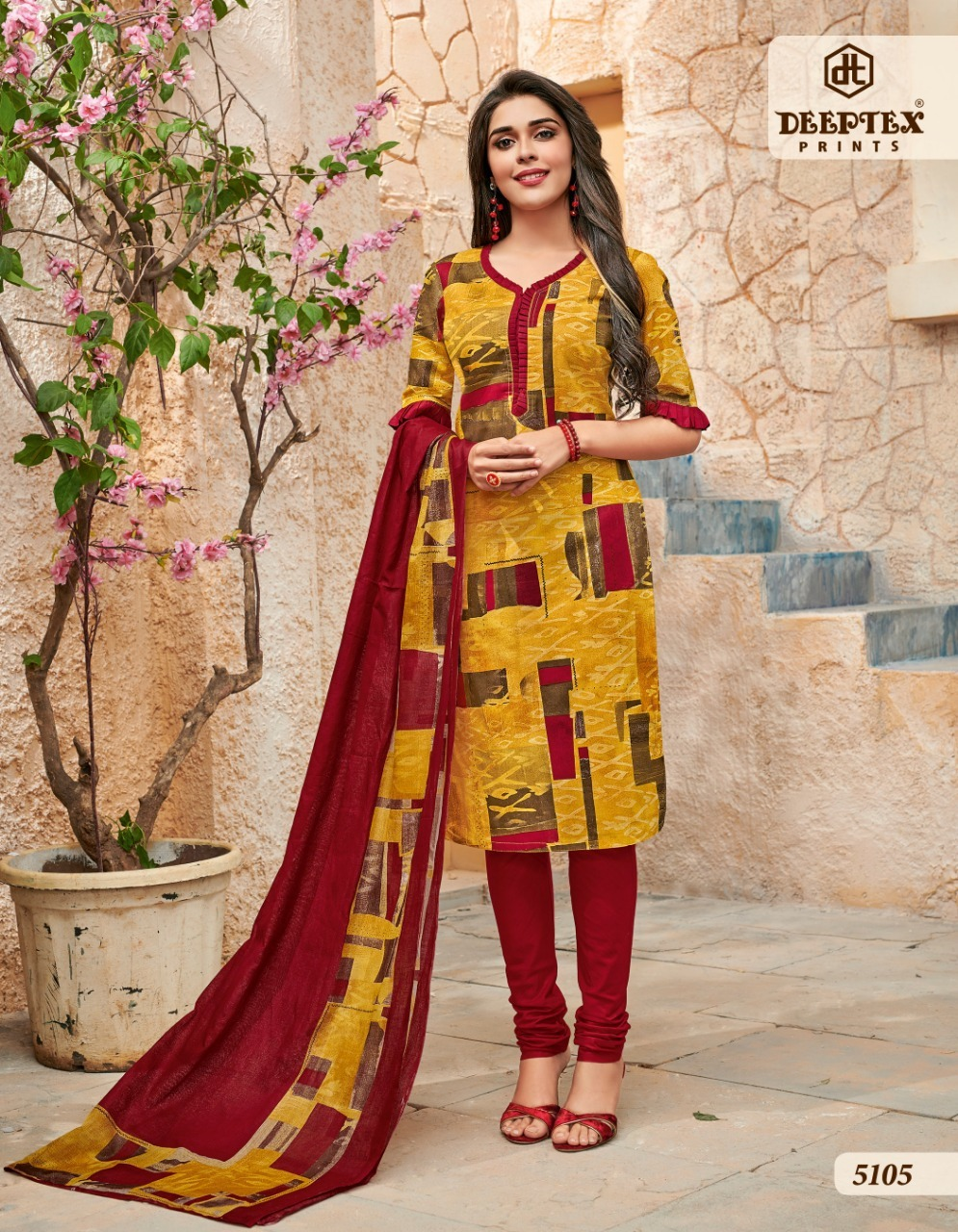 Ladies Cotton Ethnic Suit Dupatta Set