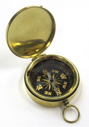 Camping Hiking Brass Pocket Compass