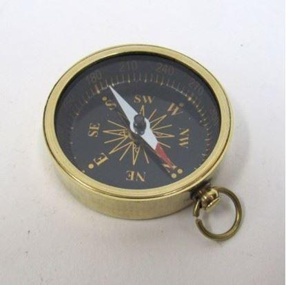 Solid Brass Pocket Compass