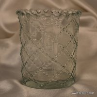 CUTTING GLASS DECORATIVE CANDLE HOLDER