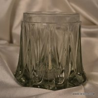 Clear Antique Glass Candle Holder