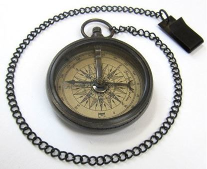 Marco Polo Sleek Compass with Chain