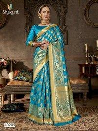 Heavy Bridal Silk Saree, Traditional Indian Saree