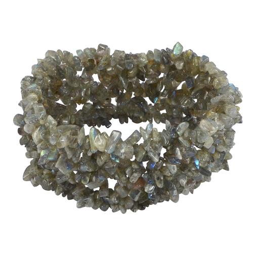 Labradorite Gemstone Jaipur Rajasthan India Stretchable Bracelet Handmade Jewelry Manufacturer