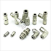 Metal Push in Pnuematic Fittings