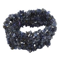 Jaipur Rajasthan India Iolite Gemstone Chips Stretchable Bracelet Handmade Jewelry Manufacturer