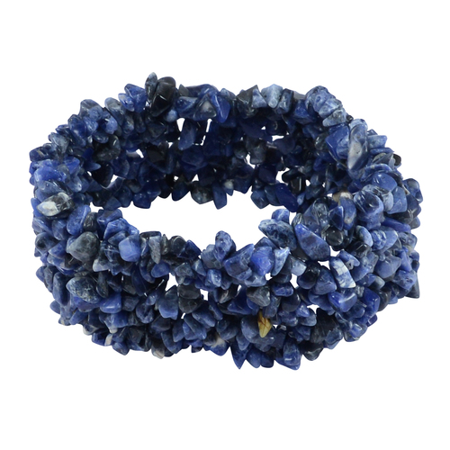 Sodalite Gemstone Handmade Jewelry Manufacturer Stretchable Bracelet Jaipur Rajasthan India