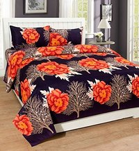 cotton printed 3D bed sheet