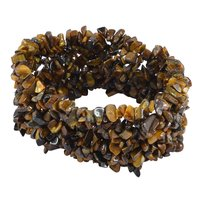 Jaipur Rajasthan India Tiger Eye Gemstone Chips Stretchable Bracelet Handmade Jewelry Manufacturer