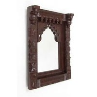 Carved Wooden Jharokha With Mirror