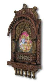Carved Wooden Jharokha Leaf Design Color Picture
