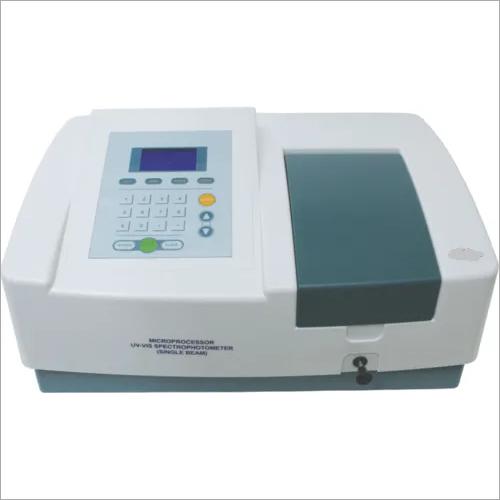 Single beam UV-Vis spectrophotometer scanning software