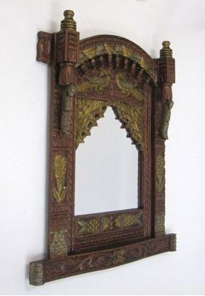 Antique Wooden Jharoka Frame Multi Color Finish