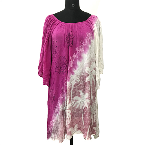 Ladies Free Size Dress mumma size plus size tie dye