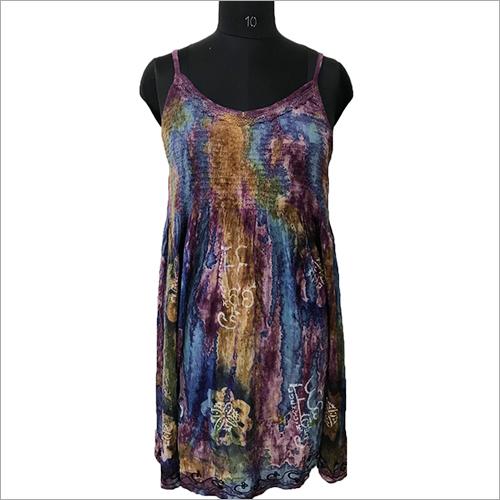 Ladies Beach Wear Tie Dye Sleveless Dress