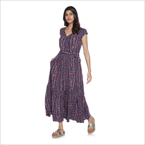 Ladies Printed Hippie Maxi Dress