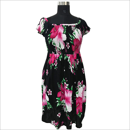 Ladies Printed Umbrella Dress