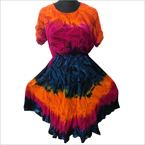 Ladies Tie Dye One Piece Dress