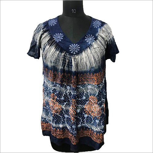 Ladies Tie Dye Loose Top