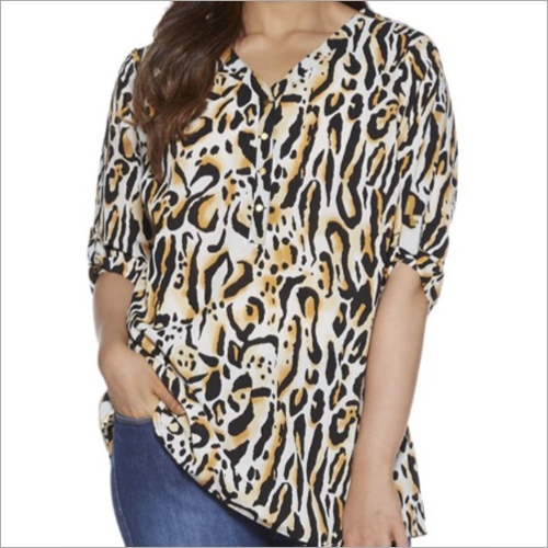 Ladies Tiger Print Top