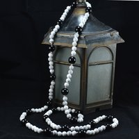Black Onyx & Howlite Gemstone Necklace Handmade Jewelry Manufacturer 925 Sterling Silver Jaipur Rajasthan India