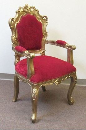 Carved Wooden Padded Wedding Chair