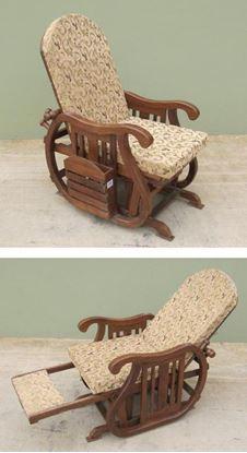 Wooden Rocking Chair Recliner