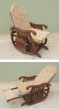 Wooden Rocking Chair Recliner