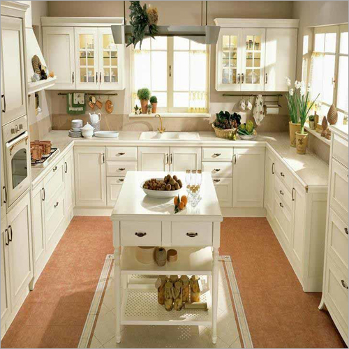 Modular High Gloss Kitchen Cabinet Set