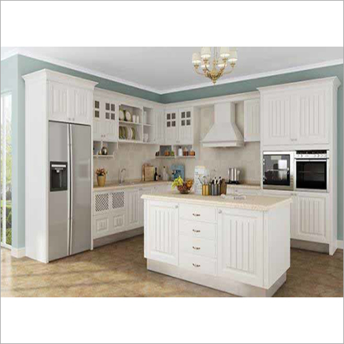 Open U Shaped Country Kitchen Cabinet