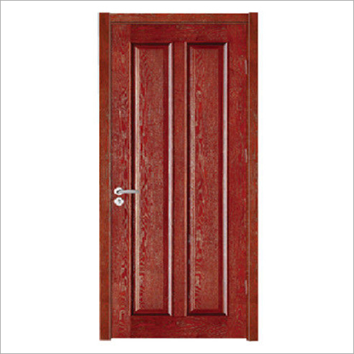 Solid Red Oak Wood Panel Door