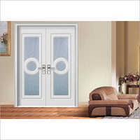 Double Glass MDF Board Door