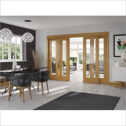 Four Natural Wooden Sliding Door