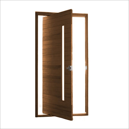 Pivot Glass Entrance Interior Wood Door