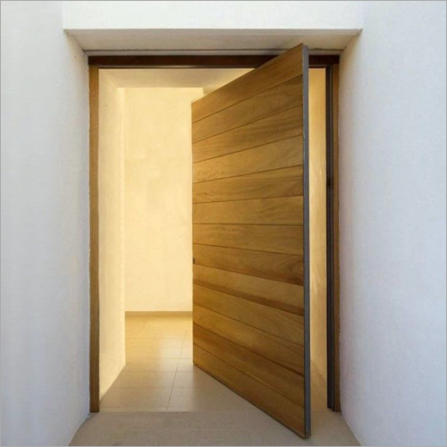 Pivoting Front Wooden Swing Door