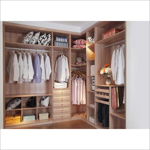 White Walk In Closet System