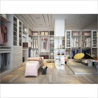 Wooden Grain Walk In Closet System