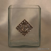 SQUIRE SHAPE GLASS CLEAR VOTIVE