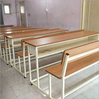Mild Steel School Wooden Desk