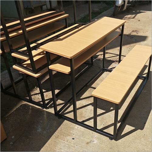 SS Wooden Top School Desk