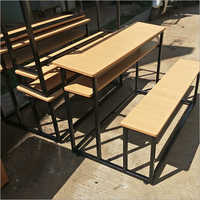 SS Wooden Top School Desk