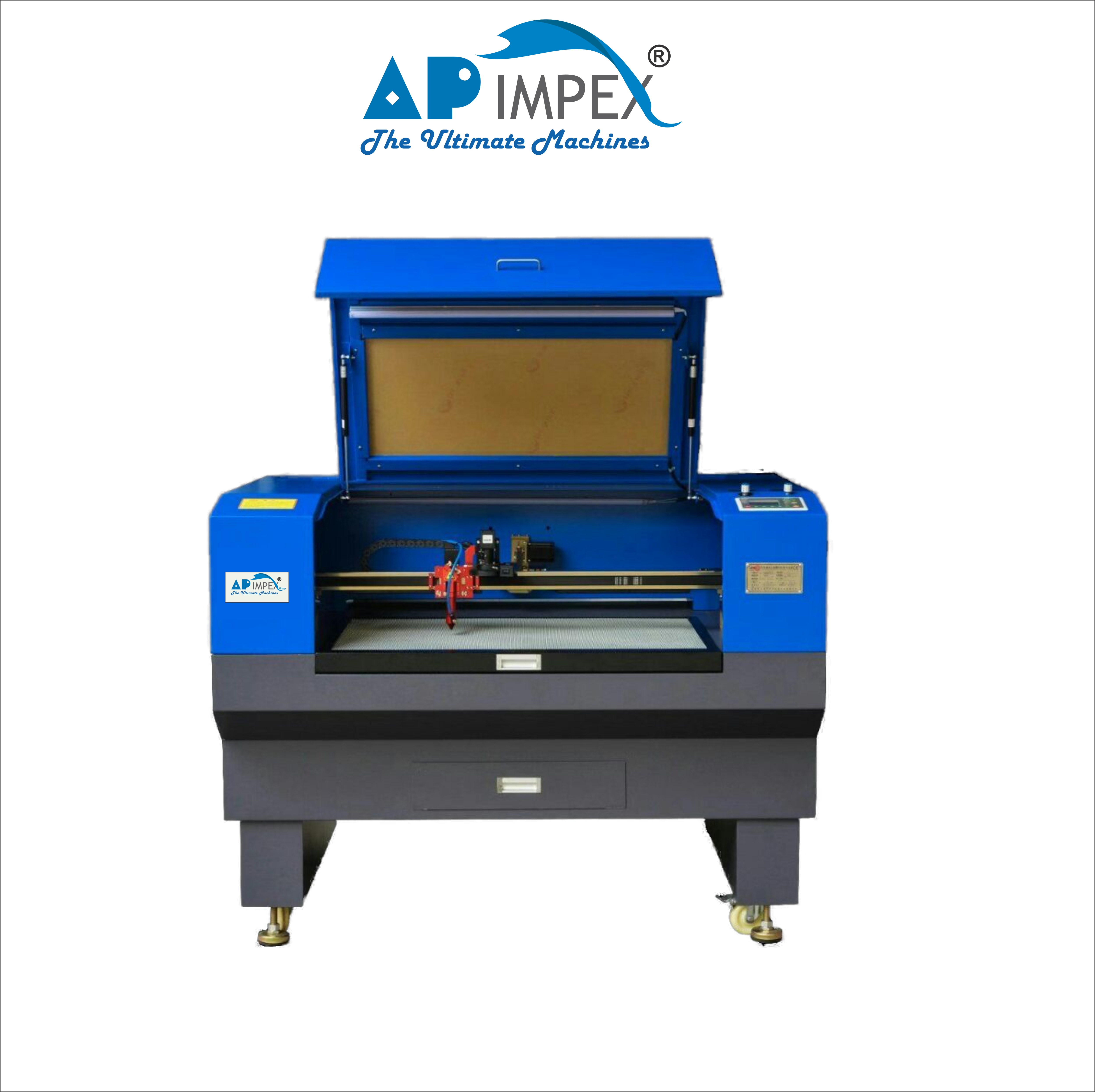 Wood laser cutting and engraving machine