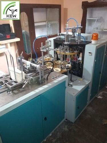 Three Phase Paper Cup Making Machine Capacity: 8 Kg Kg/Hr