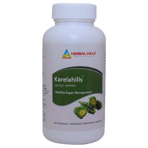 Ayurvedic Medicine For Diabetes - Blood Sugar Control - Karela 120 Capsule