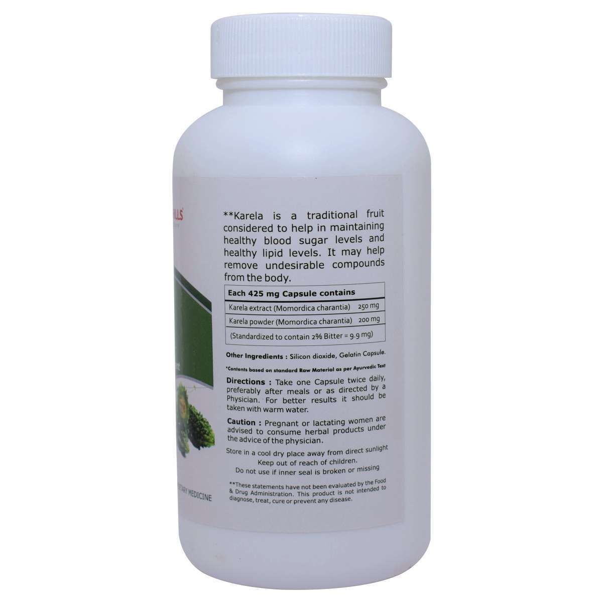 Ayurvedic Medicine For Diabetes - Blood Sugar Control - Karela 120 Capsule