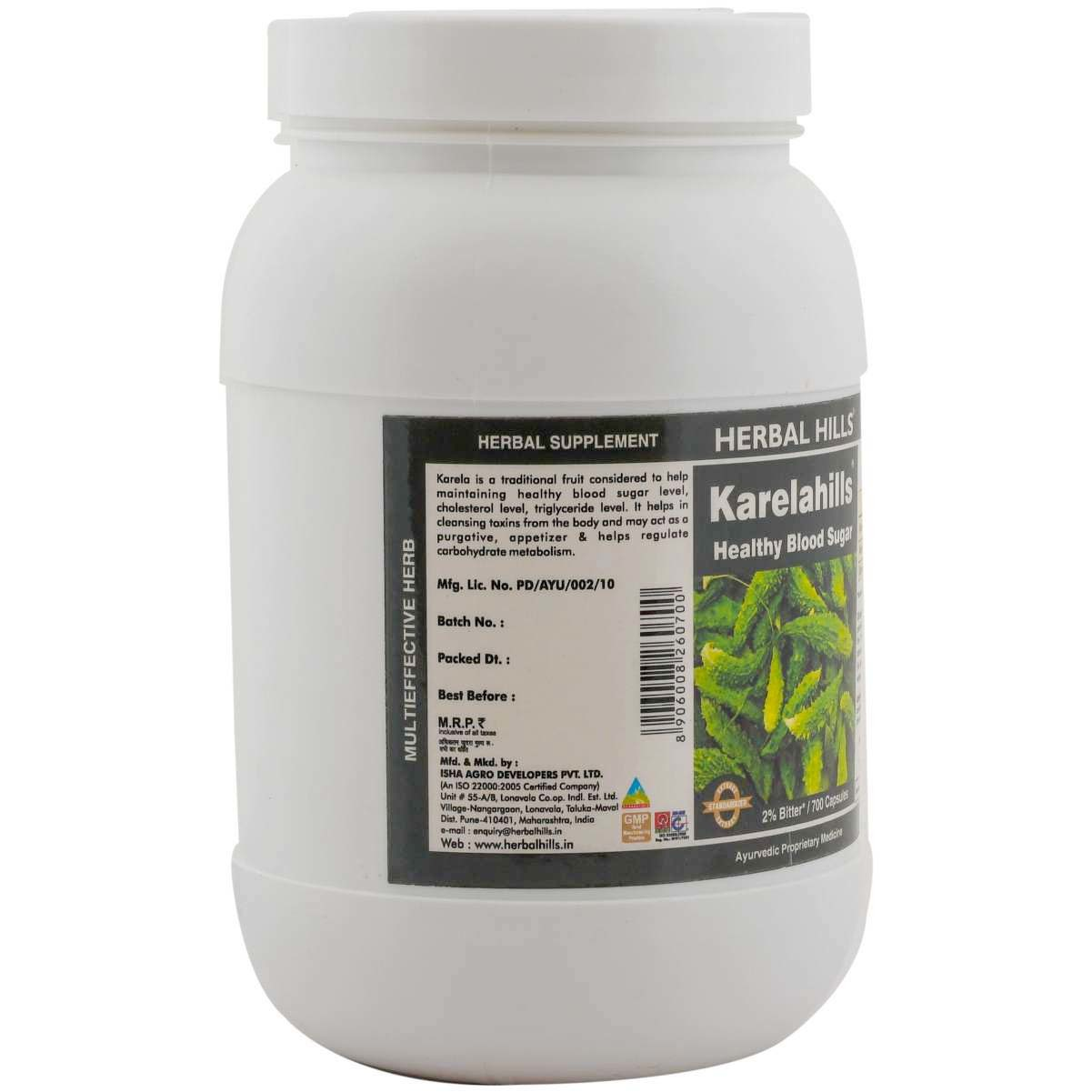 Ayurvedic Medicine For Diabetes - Blood Sugar Control - Karela 700 Capsule