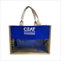 Caris Ceat Blue with Half clear Shopping Bag