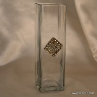 LONG SQUIRE GLASS FLOWER VASE